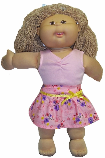 Cabbage Patch Kid Doll Skirt & Top