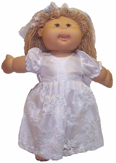 Cabbage Patch Kid Dolls Wedding Dress & Veil