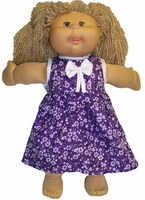 Cabbage Patch Kid Purple Flowers Dress