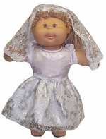 Cabbage Patch Kid Wedding Dress With Veil