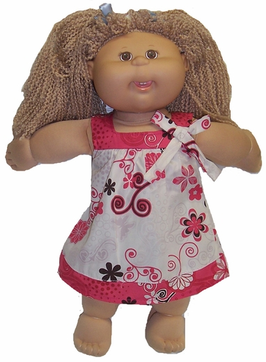Cabbage Patch Kids Doll Dress, Cream and Coral