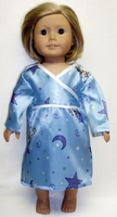 Doll Blue Bear Smooth Nightgown