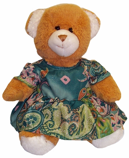 Doll Clothes For Stuffed Animals Green Dress