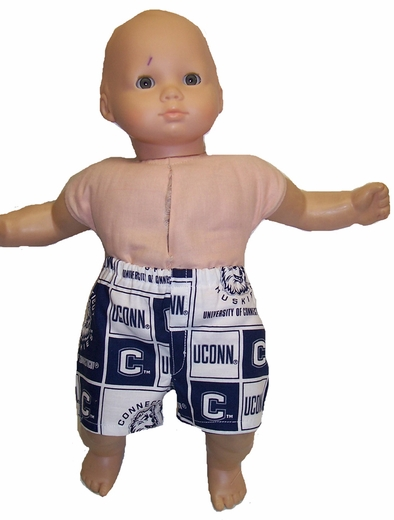 For Boy & Girl Dolls UCONN Boxer Style Shorts
