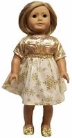 Gold Holiday Dress for American Girl Dolls