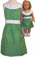 Green Calico Sleeveless Girls Dress Size 14