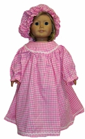 American Girl Doll Colonial Nightgown & Cap