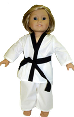 Karate Doll Clothes For 18 Inch Dolls