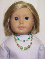 Kit To Make Two Green Doll Necklaces