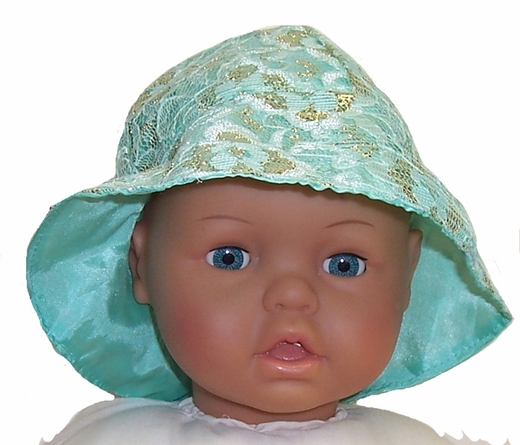 Large Baby Doll Green Hat