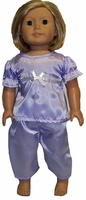 Lavender Pajamas For American Girl Dolls