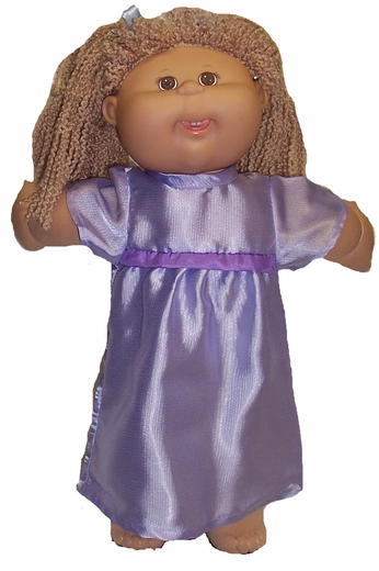 Lavender Satin Nightgown for Cabbage Patch Kid Dolls