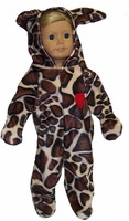 Leopard Costume For American Girl, 18 Inch and Baby Dolls