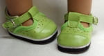 Lime Mary Jane shoes for Bitty Baby Doll