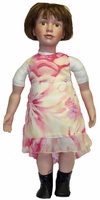 My Twin & 23 Inch Porcelain Dolls Chiffon Dress