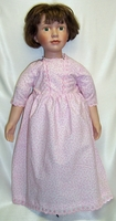 My Twin Doll Pink Calico Dress