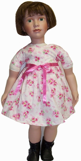 My Twin Dolls Pink Pansy Dress