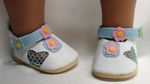Pink and Blue Flower Bitty Baby Shoes