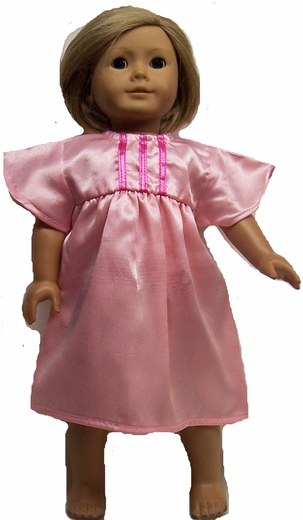Pink Doll Nightgown For 18 Inch Dolls