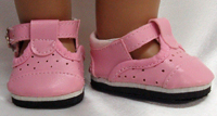 Pink Mary Jane Shoes for Bitty Baby