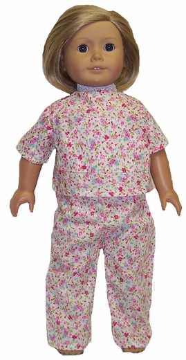 Pink Pajamas & Bathrope For American Girl Dolls