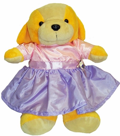 Pretty Dress For Stuffed Animals Pink & Blue
