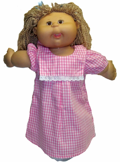 Cabbage Patch Kid Pink Check Dress