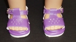 Purple Open Toe Shoes for Bitty Baby
