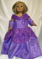 Purple Princess Dress For American Girl Dolls