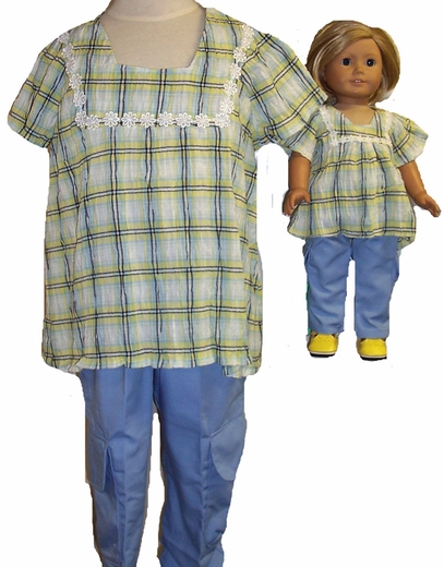 Size 12 Cargo Pants Set With Matching Doll Set Available