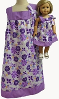 Size 5 Matching Lavender Co Ordinated Print Dress