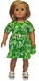 Size 5 Girl Green Dress with Matching Doll Dress Available