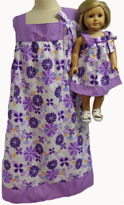 Size 6 Girl Dress Matching Doll Available in Three Sizes