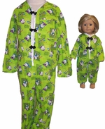 Size 6 Matching Girl Pajamas Doll Size Available