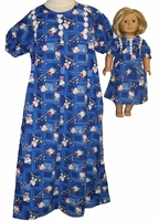 Matching Girl ad Doll Hello Kitty Nightgown Size 7