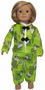 Size 7 Green Girl Pajamas with Matching Doll Available