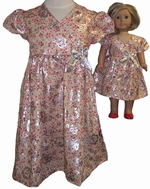 Size 7 Matching Rose Gorgeous Dress Girl & Doll