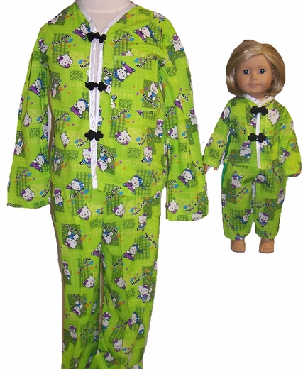Matching Girl And Doll Pajamas Size 8