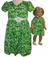 Size 8 Pretty Green Dress With Matching Doll Dress Available