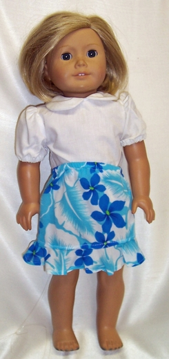 Skirt & Blouse For 18 Inch Doll