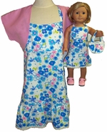 Matching Girl And Doll Clothes Sundress, Jacket, Purse Size 8