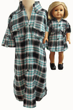 Sz 7 Matching Girl & Dolls Dress
