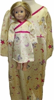 Sz6 Matchin Girl Doll Pajamas Moon Print