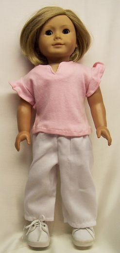 T Shirt And White Pants Doll Clothes