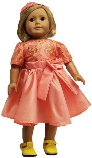 Tangerine Party Dress For American Girl Dolls