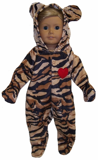 Tiger Costume For Dolls, American Girl, Baby, 18 Inch dolls