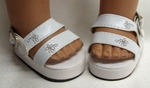 White Platform Sandals For Bitty Baby