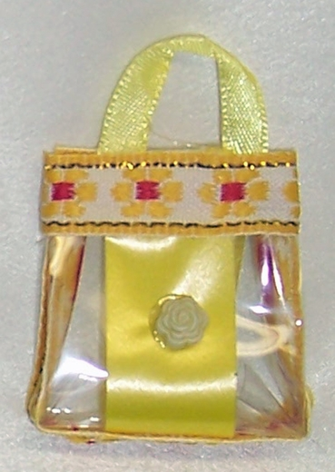 Yellow Tote Bag Style Purse For Barbie Dolls
