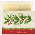 Antique Holly Boxed Holiday Cards