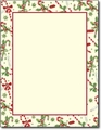 Candy Cane & Holly Stationery - 80 Sheets